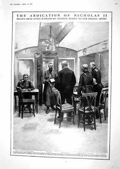 Abdication of Nicholas II.
