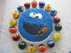 Sesame Street Cupcakes.  Love this!