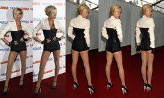 Victoria Beckham wears Wolford.