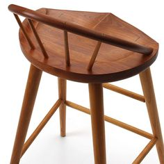 Thos. Moser bar stool with back, custom woodworking idea