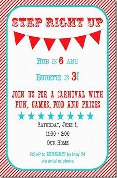 carnival party invite