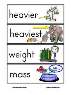 kindergarten math, weight loss, math vocabulary, math vocabulari, cards