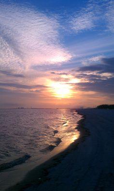 Gulfport, Mississippi sunset