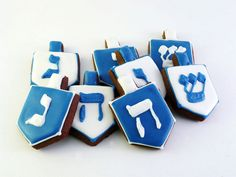 Decorated Cookies Hanukkah