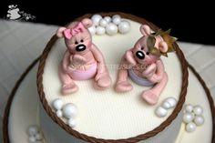 twin bear, babi cake, cakes, cake porn, bears, cake decor, cake cake, babi stuff, bear cake