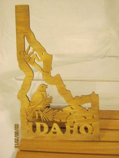 US STATE of IDAHO Scroll Saw Plaque
