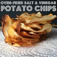 ~ Oven-Fried Salt & Vinegar Potato Chips ~