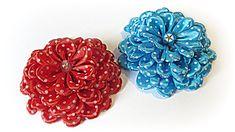 DIY: Flores de raso. Satin flowers.