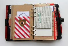 A great way to use a small planner binder: Besottment Filofax Art Journal