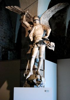 St. Michel fighting and defeating a dragon ( Mont St. Michel )