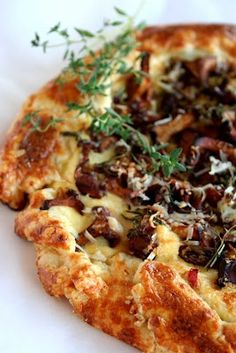 Mushroom Ricotta Tart #food #recipe
