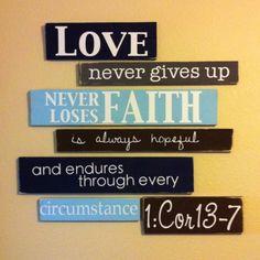 endures through every circumstance