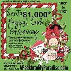 Santa's $1,000 Paypal Cash Giveaway