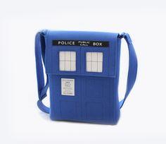 Blue Tardis Felt Bag. $140.00, via Etsy. @Marla Garcia Garcia