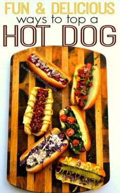 Five types of hot dogs for summer grilling