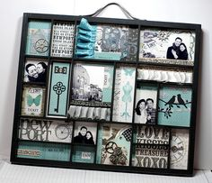 Printers tray idea, craft, memori, engagement gifts, shadow box, printer tray, scrapbook, memory tray, art projects
