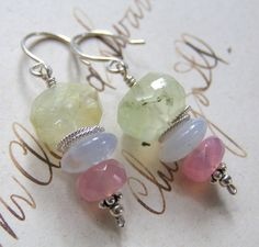 Baby Whisper Shades / Prehinte, Holly-Blue Chalcedony, Rose Quartz