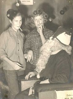 Not only were we naively unaware those department store Santas might be a little pervy, we smoked cigarettes with the jolly old guy.