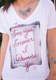 """""""To Love You Forever, I Promise You."""" - The purchase of this shirt donates $7 to Now I Lay Me Down To Sleep, a charity that provides free professional photography sessions to parents in the hospital who just lost a newborn."""