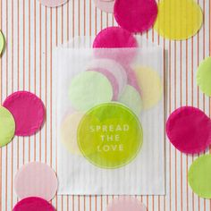 Giant Confetti Bags! A great DIY option for a unique gender reveal, just make the bags opaque for the reveal. Via ohhappyday.com #genderReveal