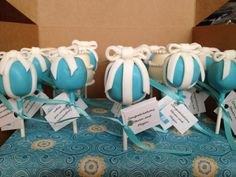 Tiffany little blue box cake pops made by The POPcakery