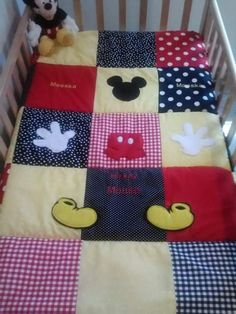 Mickey Mouse Crib/Toddler Bed Quilt. $125.00, via Etsy.