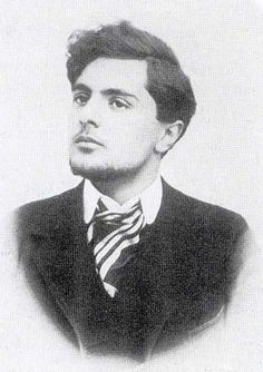 Young Modigliani, around 1904. I have no idea who he is, but he looks intriguingly handsome.