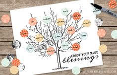 count your blessings tree printable