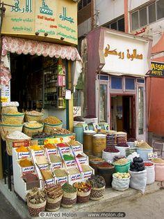 Spices shop, #Aswan, #Egypt   Alfred Molon