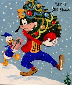 Vintage Disney Christmas card