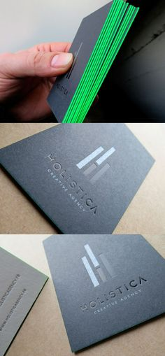 Green Edges | #Business #Card #letterpress #creative #paper #bizcard #businesscard #corporate #design #letterpress #visitenkarte #corporatedesign repinned by www.BlickeDeeler.de | Visit our website www.blickedeeler.de/leistungen/printwerbung3/visitenkarten