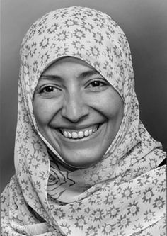 """Tawakkol Karman, Winner of the Nobel Peace Price 2011 (together with two other women) """"for their non-violent struggle for the safety of women and for women's rights to full participation in peace-building work"""""""