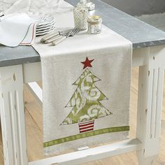 Holiday Appliqued Table Runner