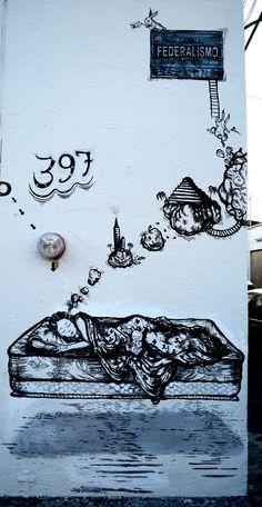 Un cuento en la calle. Pintura mural en las calles de Guadalajara. Mex 2013.
