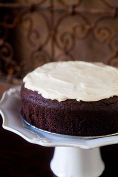 Chocolate Guinness Cake.  I must make this for St. Patty's Day Dinner.