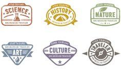 Star Tribune Museum Traveler Passport Stamps - Olive & Company | Print Design | Minneapolis, MN