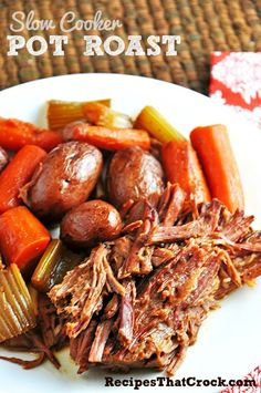 Slow Cooker Pot Roast #CrockPot