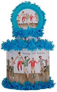 World of Pinatas - One Direction Personalized Pinata, $39.99 (http://www.worldofpinatas.com/one-direction-personalized-pinata/)