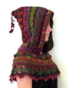 hoods, craft idea, knit, flowers, scarv, crochet hood, mirtooli crochet, hat, crochet scarfs
