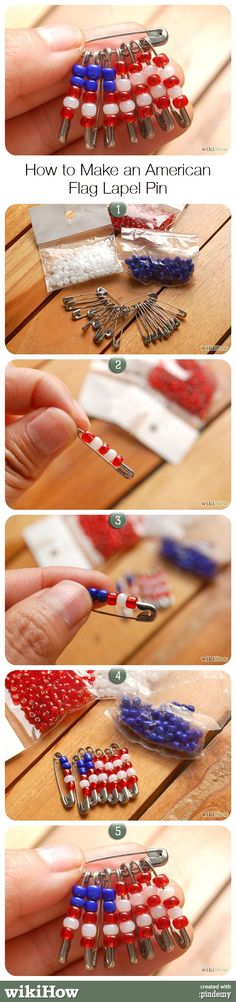 How to Make an American Flag Lapel Pin