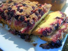 The Virtuous Wife: Blackberry Buckle Bread Tutorial