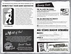 Minnesota RollerGirls Bout Program by Candice Meyer, via Behance