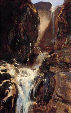 'A Waterfall' - John Singer Sargent