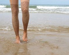 Fish scale stockings tattoo. Perfect for sexy swimmers or surfers or beach bums or anyone that wants to be my girlfriend.