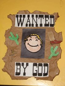 Cowboy VBS craft idea with child's picture, kinda cute