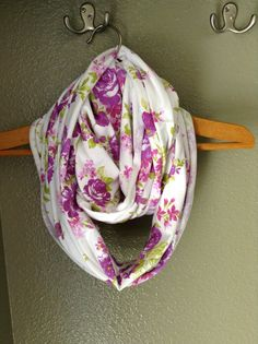 Purple floral Infinity nursing scarf Nursing cover by HeySmukke