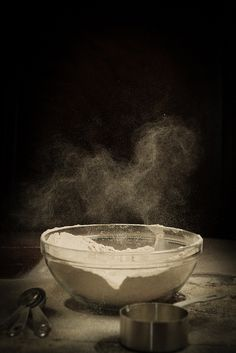 Experimenting on different types of flour. Tastes for breads: 1. Kalamata and olives. 2. Cocoa, banana, honey, cinamon teff flour. 3. Honey and cloves. * Try using yogurt to make the bread more moist. Try corn bread. Pancakes: soak flour before cooking in milk, make dough and leave it to sit, cook at medium heat (6-7/9) until bubble starts to appear, then the other side.