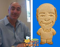 Internal Company Event - Make your employee into a cookie - Employee of the month - tech firm - Custom Cookie - Edible Favor