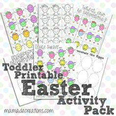 Easter Activity Pack for Toddlers {Free Printable} - The MaMade Diaries #easter #activitypack #toddlers #easteractivities #freeprintable