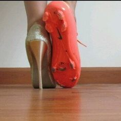 cleats and high heels